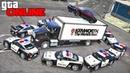 GTA 5 полиция - догонялки за легендарным Dodge Challenger Hellcat полицейские погони в гта 5 онлайн!