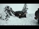 Поездка на Ай Петри зимой на внедорожниках, как мы заехали на плато по снегу