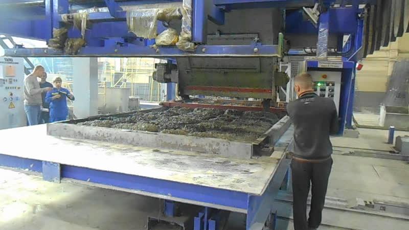 Формование железобетонной плиты перекрытия. КЖБИ-2 (Барнаул)