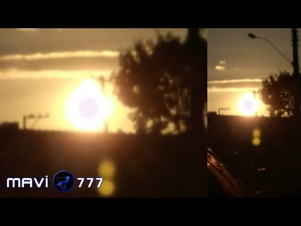 Huge Mothership(UFO) is stands in front of Sun!April 18,2019