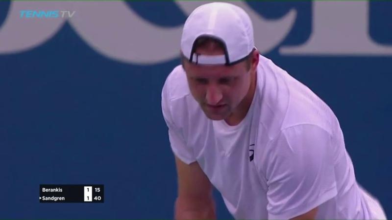 Winston-Salem Open 2018 1st Round - Ricardas BERANKIS (LTU) V Tennys SANDGREN (USA)