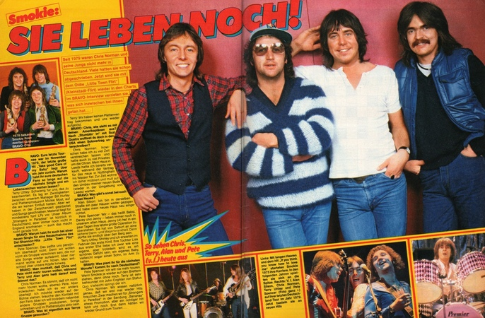Smokie - Lay Back In The Arms Of Someone 1977 - with magazine pictures reports -