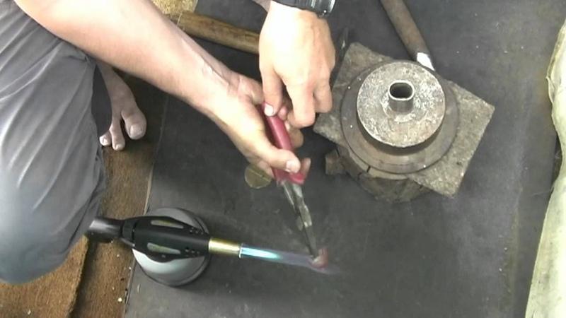 Изготовление оковки для ножей финского типа