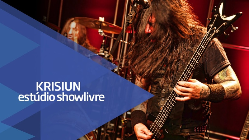 Conqueross of armageddon Krisiun no Estúdio Showlivre 2015