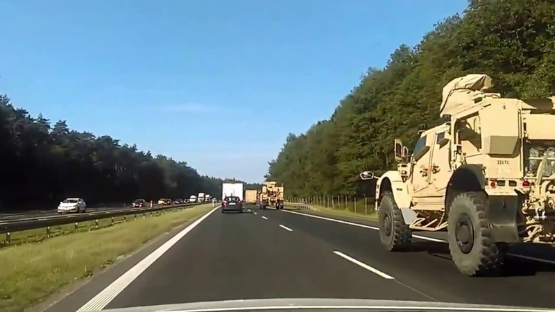 American Army in Europe (Poland highway A4 Krakow - Katowice)