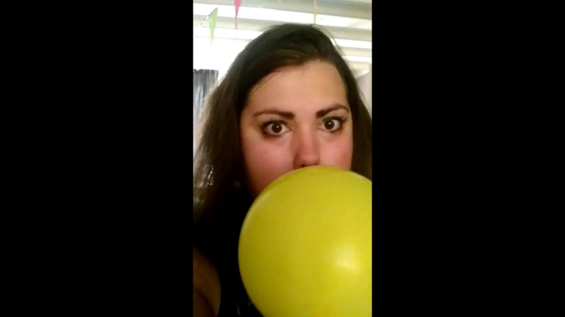 Blowing up a balloon until it pops while decorating makes the camera shake