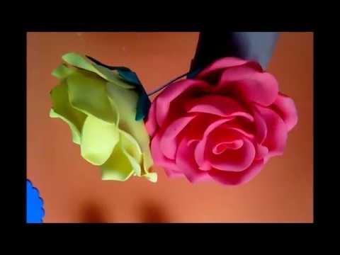 Como fazer rosas de e.v.a com litro pet 2 litros (frisador caseiro)