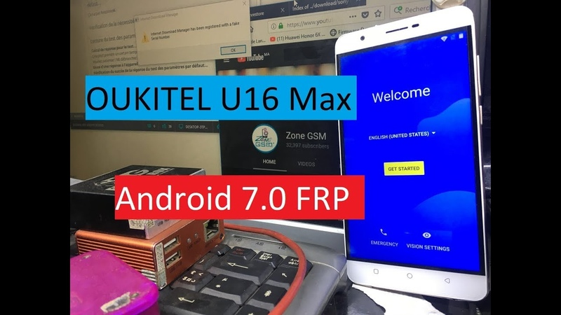 Bypass Google Account OUKITEL U16 Max Remove FRP Android 7.0 FRP REMOVE DONE