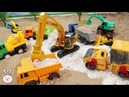Kids toys Excavator Dump Truck Cement Mixer Wheels loader Bulldozer Construction Vehicles YapiTV
