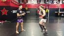 Тайский Бокс Захват перехват и подсечка sweep