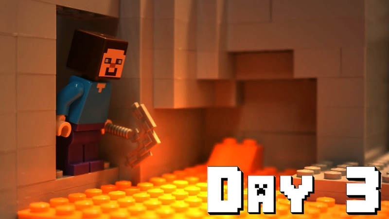 LEGO Minecraft Survival Day 3 Stop Motion Animation