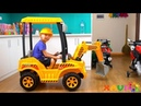 Baby Xavi Opening And Assembling Tractor Excavator With Roof Ride On with Mommy and Eating Snack