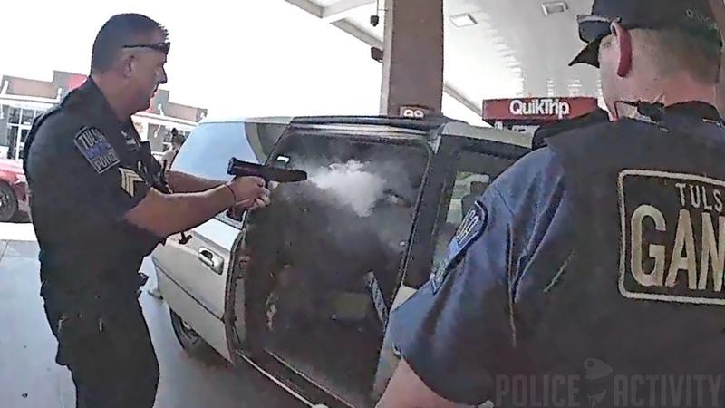 Bodycam Footage Shows Police Shootout in Tulsa Oklahoma