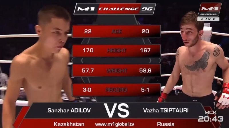 Санжар Адилов vs Важа Циптаури, M-1 Challenge 96 cfy;fh flbkjd vs df;f wbgnfehb, m-1 challenge 96