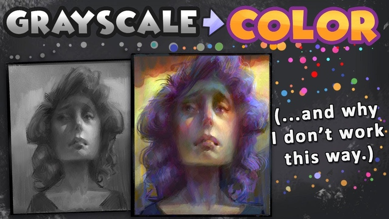 Grayscale To Color Art Process ... and why I don't use it