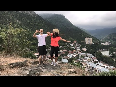 Девушка Танцует Красиво В Горах 2018 Лезгинка Потому Что Я Влюблен ALISHKA IA Грузия (Боржоми)