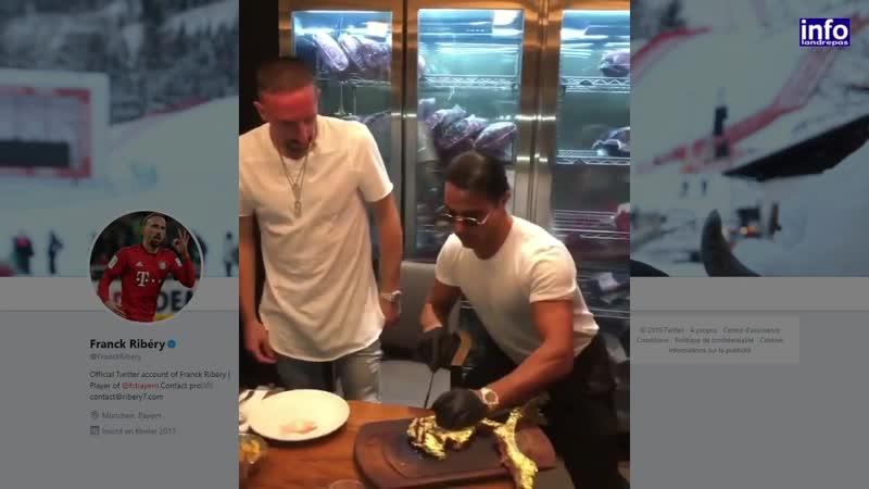 Franck Ribéry s'offre une entrecôte recouverte d'or