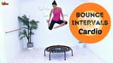 Rebounder Workout Mini Trampoline Workout BARLATES BODY BLITZ Bounce Intervals Cardio