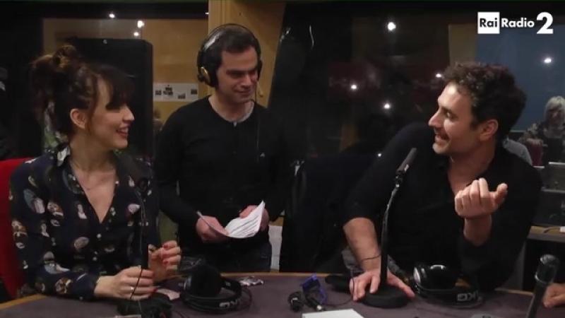 Raul Bova e Chiara Francini Radio2 was live.