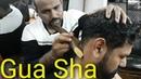 Reiki master Gua Sha head massage with hand, neck, chest, back massage and neck cracking ASMR