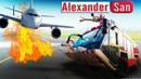 ПОЖАРНАЯ МАШИНА ТУШИТ ПОЖАР Мультик про машинки Пожарная машина игра airport firefighters simulation