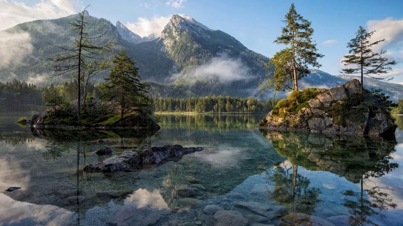 Картинка озеро. Деревья, сосны, долина, природа, национальный парк, горы, пейзаж, вода.