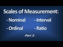 Scales of Measurement - Nominal, Ordinal, Interval, Ratio (Part 2) - Introductory Statistics