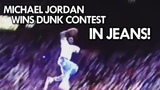 Rare Michael Jordan Dunks in JEANS from the FREE THROW LINE! 1988 UNSEEN DUNK CONTEST!
