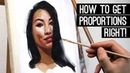 HOW TO GET PROPORTIONS RIGHT oil sketchtime lapse