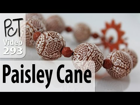 Polymer Clay Checkered Paisley Cane Tutorial (Intro Vol-053)