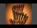 переливная решетка из древесины тик