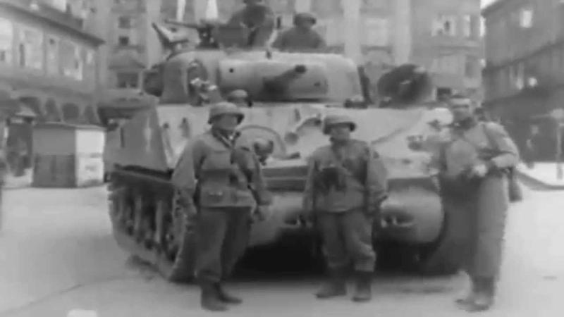 First US Troops into Linz, Austria Sherman Tanks Concentration Camp Survivor Interview