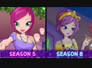 Winx Club - All characters evolution FROM SEASON 1 TO 8