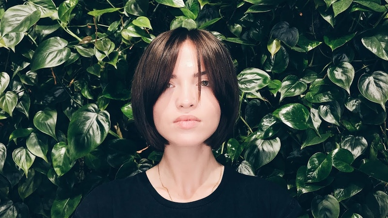 Commercial short women's haircut tutorial with the long bang