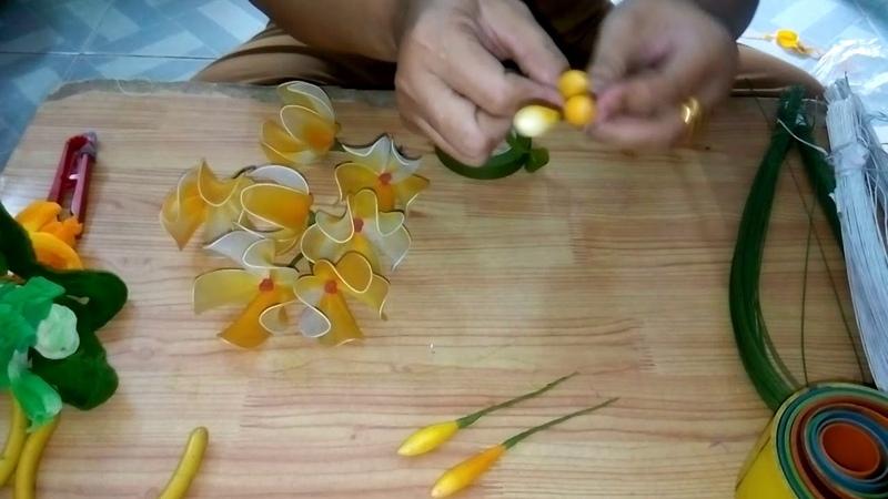 Hướng dẫn làm hoa Lan rừng bằng vải voan ,