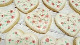 Heart &amp Rose Sugar Cookies on Kookievision by Sweethart Baking Experiment