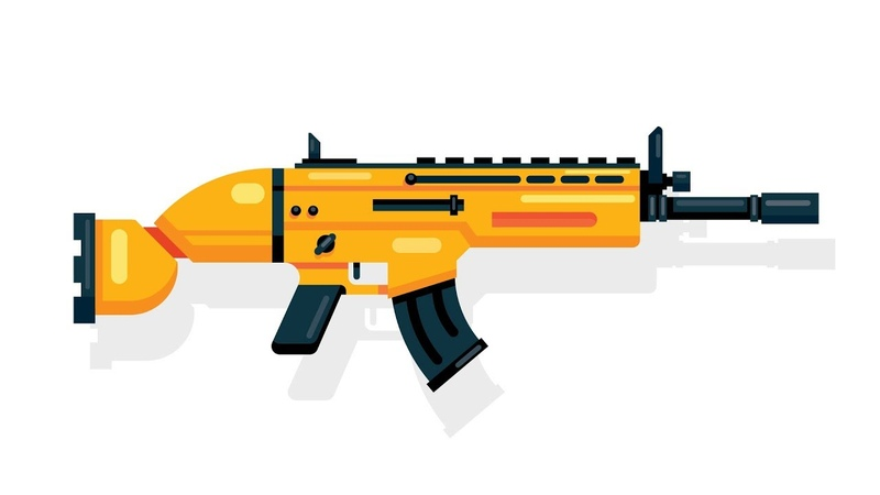 How to Draw the SCAR Rifle | Fortnite | Flat Design | Adobe Illustrator Tutorial