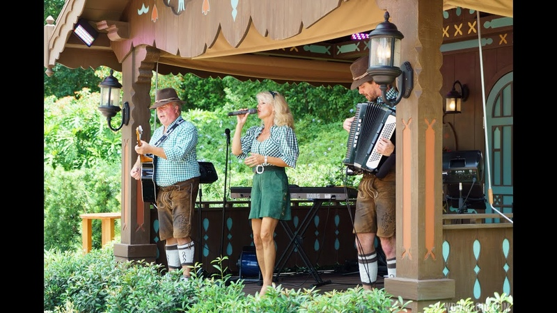 Margret Almer and The Bavarian Band at Epcots Germany Pavilion