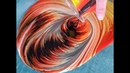 ( 9 ) Fluid Painting - Solar Fire - Dirtycup Swirl pour on Wood