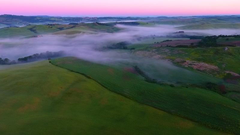 Закат, рассвет и восход в Тоскане. Туман | Sunset, dawn and sunrise in Tuscany. Fog