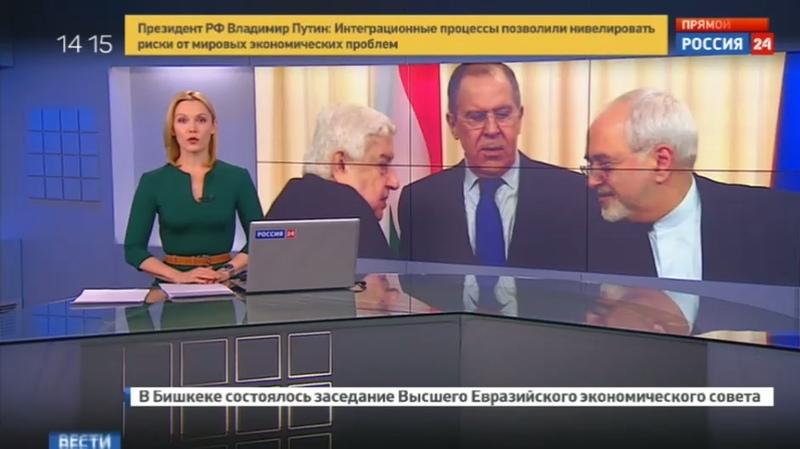Новости на Россия 24 • Лавров обсудил удар по Сирии с коллегами из Тегерана и Дамаска