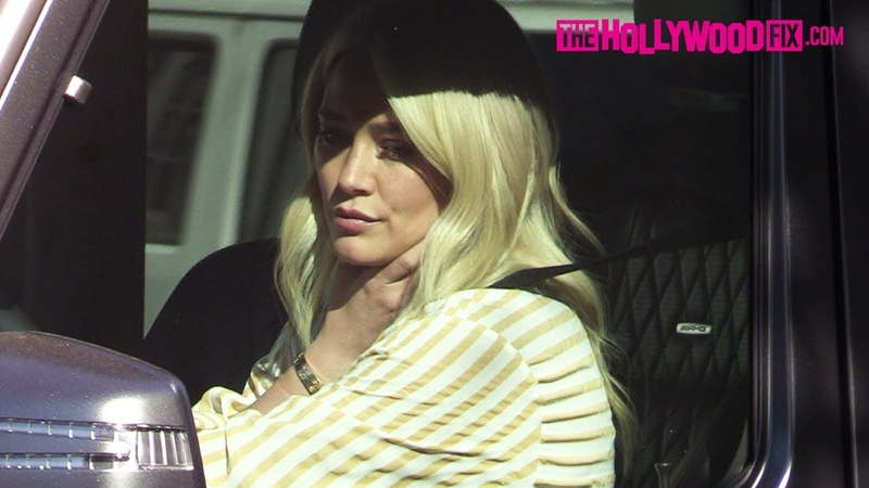 Hilary Duff Glows With New Platinum Blonde Hair While Leaving 901 Salon In West Hollywood 1.4.19