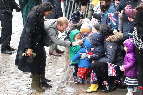 Меган Маркл и принц Гарри приехали в Бристоль