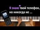 Я знаю твой телефон ● караоке PIANO KARAOKE ● ᴴᴰ НОТЫ MIDI Тати Виртуальная любовь