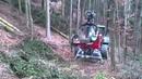 Traktorprozessor Hypro 755 on steep hillside (am Steilhang)