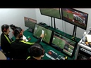 VAR using a piece of paper on offside decision