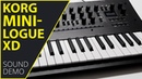 Korg Minilogue XD Sound Demo (no talking)