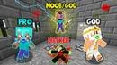Minecraft Battle: SCARY BABY CHALLENGE! NOOB vs PRO vs HACKER vs GOD in Minecraft Animation
