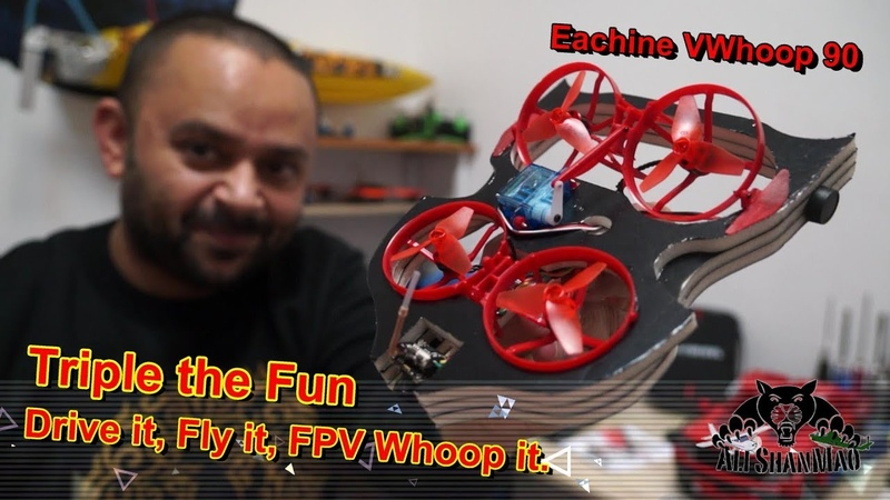 Eachine VWhoop 90 Hovercraft and Brushless FPV Whoop Crazybee F3 OSD