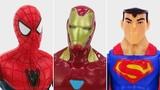 Супергерои Человек Паук, Супермен и Железный Человек. Видео на английском языке.